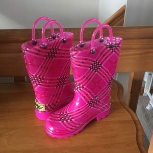 Cute Toddler girl's rain boots never worn outside